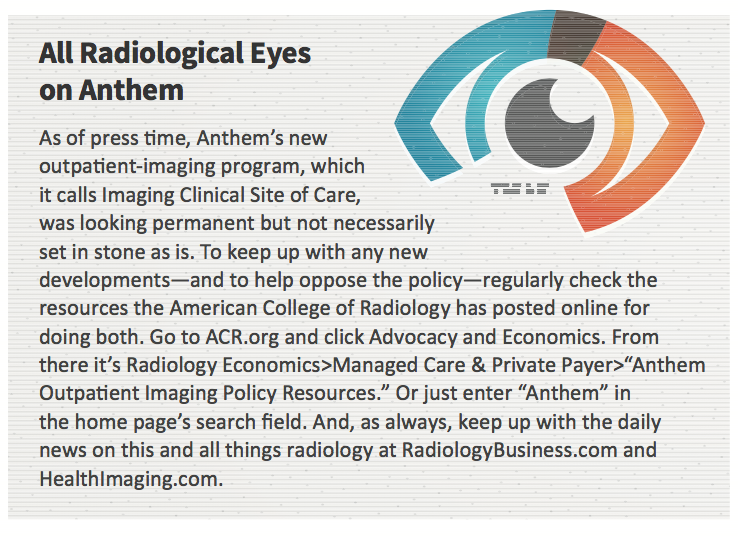 No love lost for Anthem imaging policy
