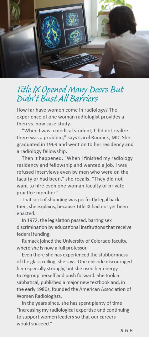 Title IX Opened Many Doors But Didn't Bust All Barriers